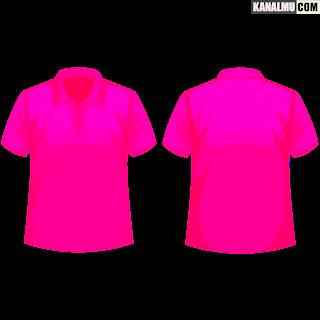 mentahan kaos polos pink muda polo PNG - kanalmu