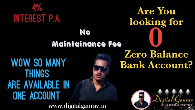 Which Bank is Best For Zero Balance Account?