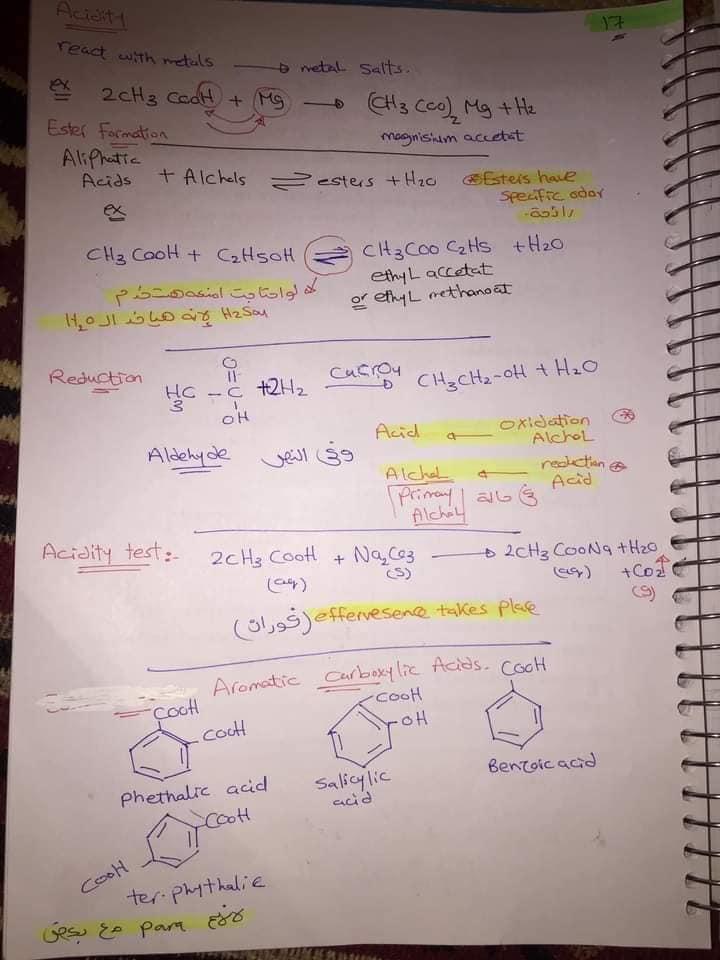 ملخص organic chemistry للثانوية العامة لغات 18