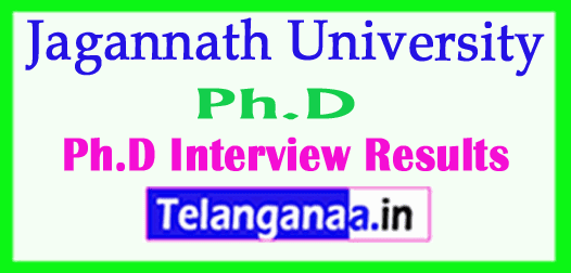 Jagannath University Ph.D Interview Results