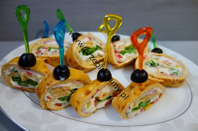 Roladki z omletu
