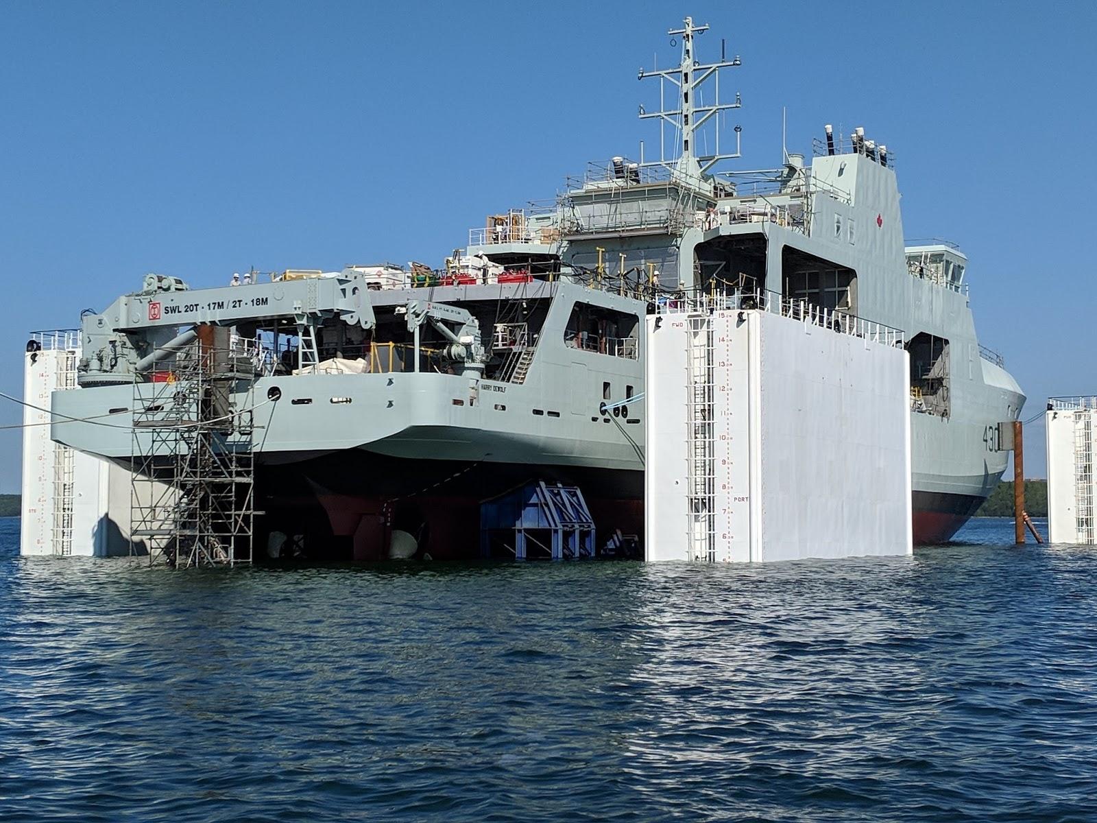 Поставлено перше десантне судно для AOPS ВМС Канади
