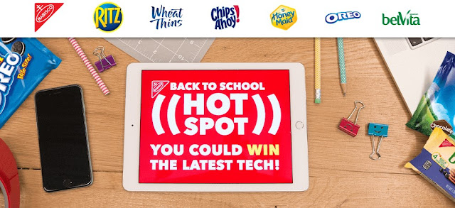 Nabisco wants you to enter daily for your chance to win great back to school electronics and other prizes for the kids in their newest sweepstakes and instant win game!