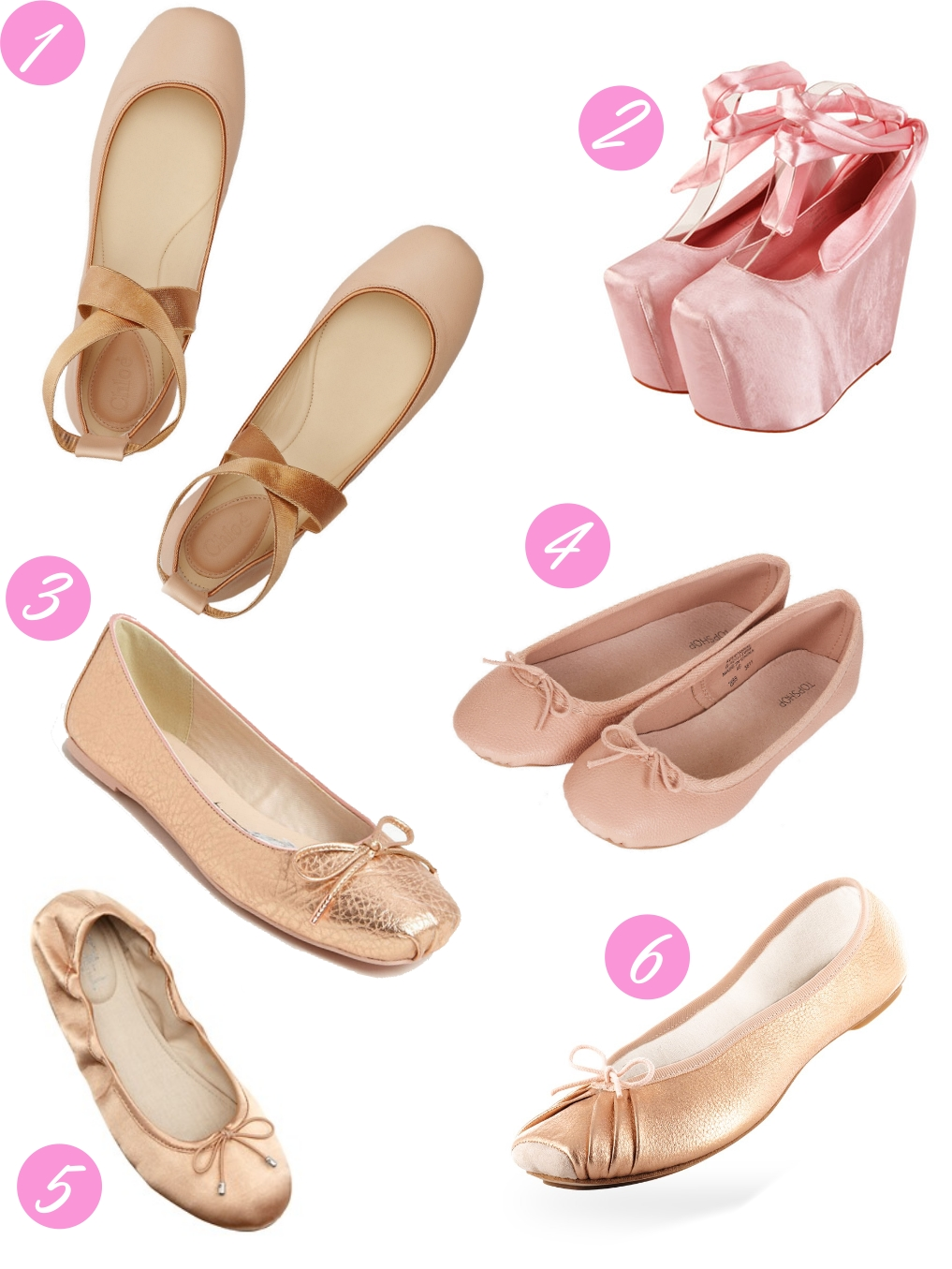 Pointe Shoe Inspired Flats