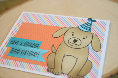 Dog Birthday Card by Jess Gerstner using Jess Crafts Digitals Delightful Doggy