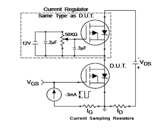 IRF9540N Gate Charge Test Circuit Schematic and Datasheet