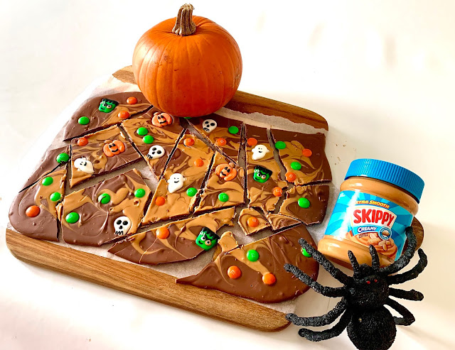 SKIPPY® Peanut Butter & Halloween Candy Bark