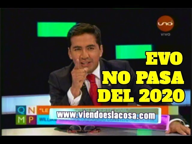 VIDEO: SR. PRESIDENTE, USTED NO VA MÁS EL 2020. EL ABOGADO DE CUSI DIRIGIÉNDOSE A EVO MORALES