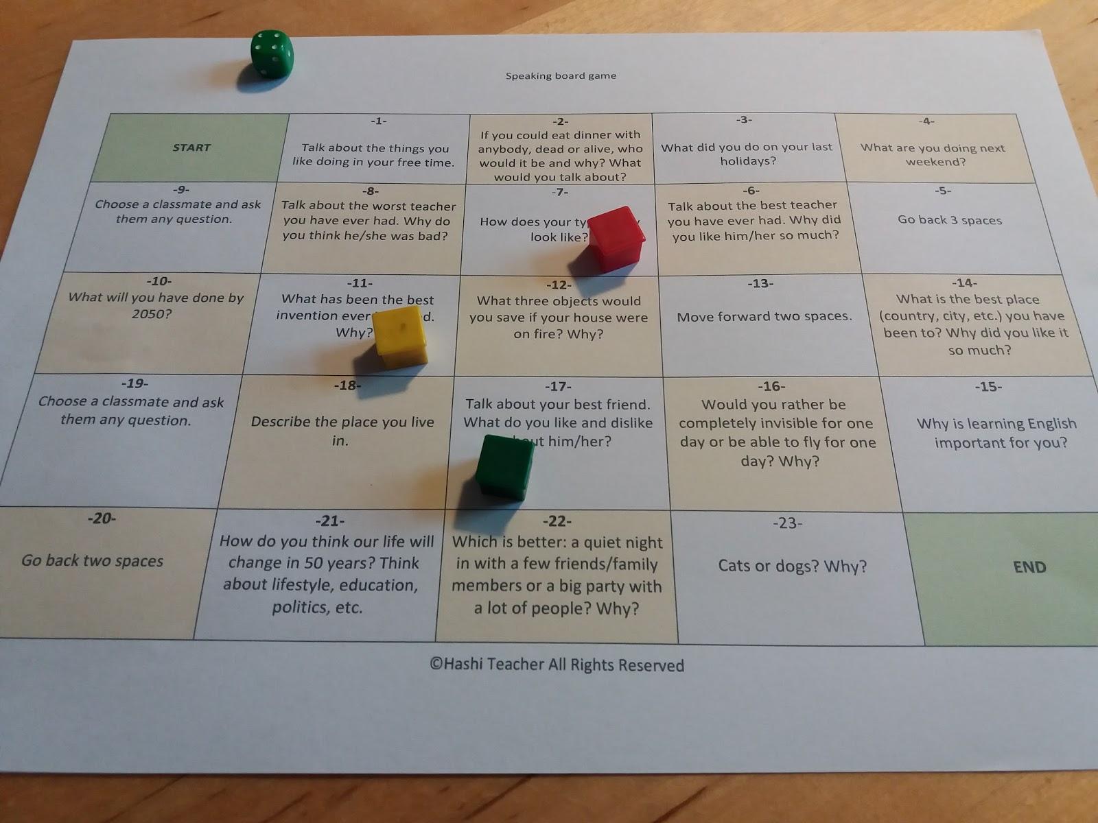 Game of English Language Teaching