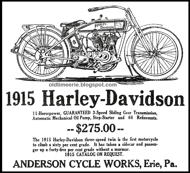 Old Time Erie: Harley-Davidson 1915 Anderson Cycle Works