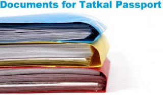 Required Documents for Tatkal Passport