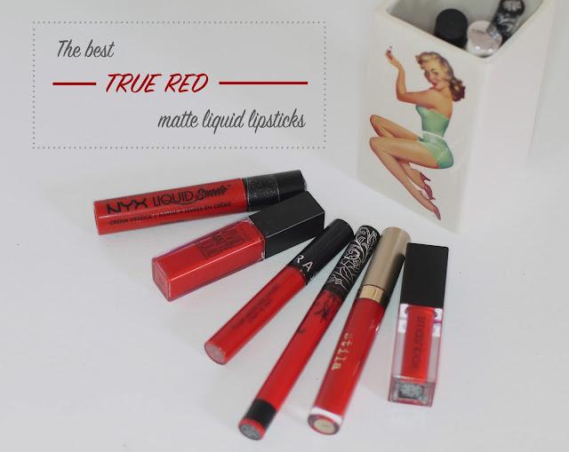 The best true red matte liquid lipsticks - a 10 lipstick comparison