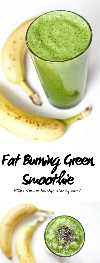 Fat Burning Green Smoothie #smoothiedrink #enjoybreakfast