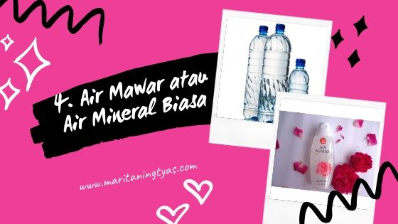air mawar untuk homemade setting spray