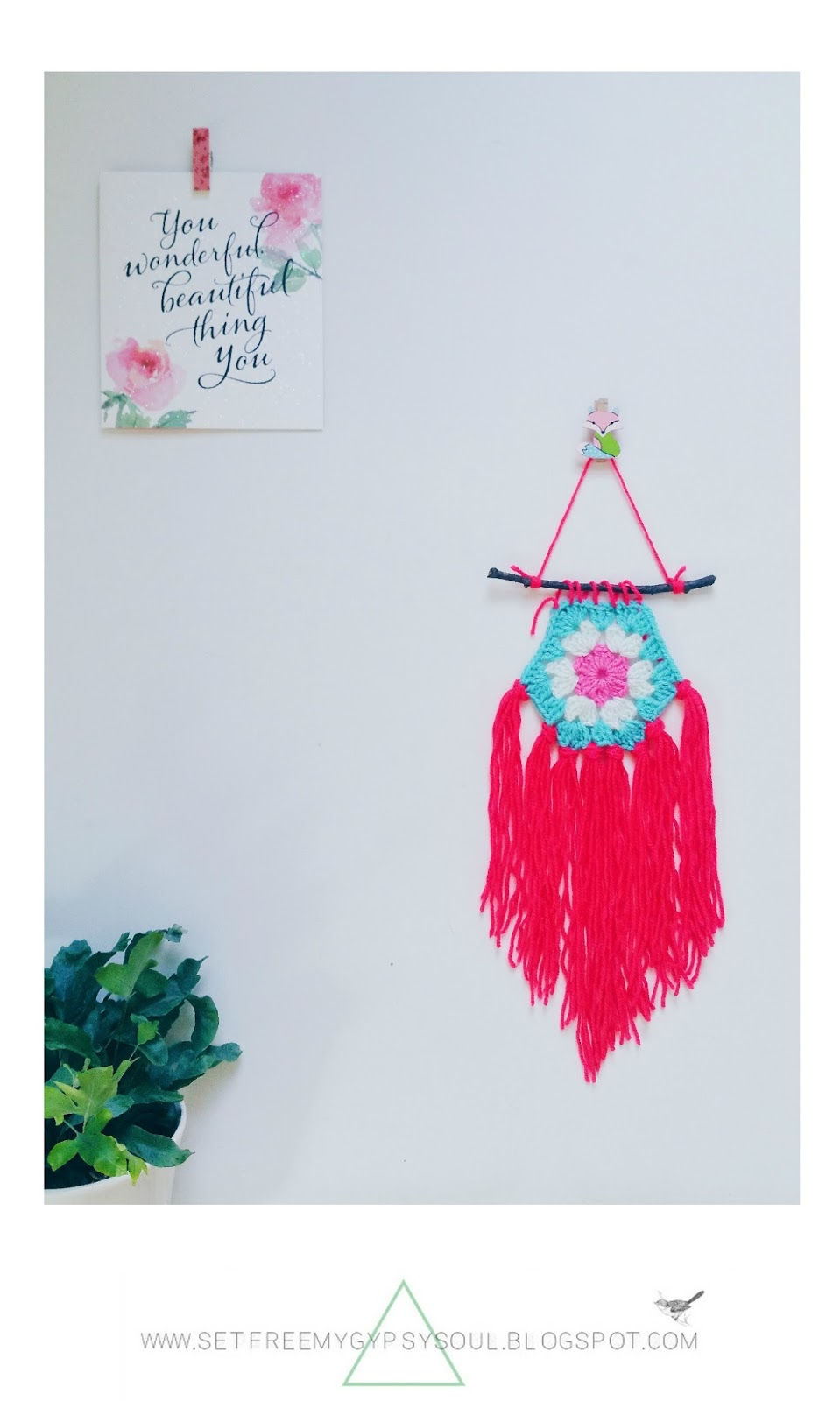 free crochet pattern boho gypsy soul home design decor wall art diy