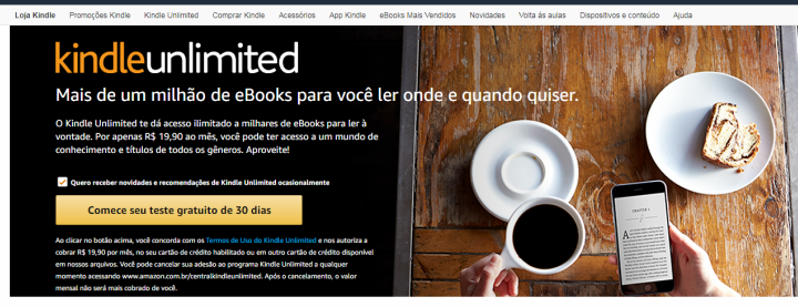 COMO FUNCIONA O KINDLE UNLIMITED: APLICATIVO PARA LER E-BOOKS
