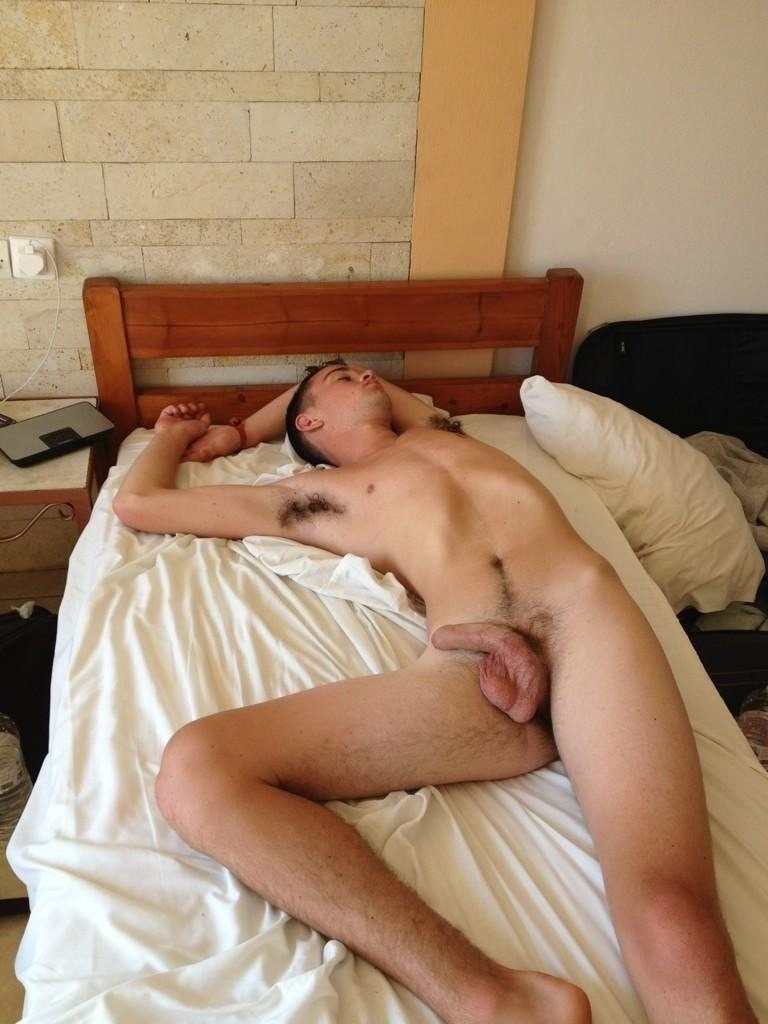 Shirtless sleeping gay twink first time