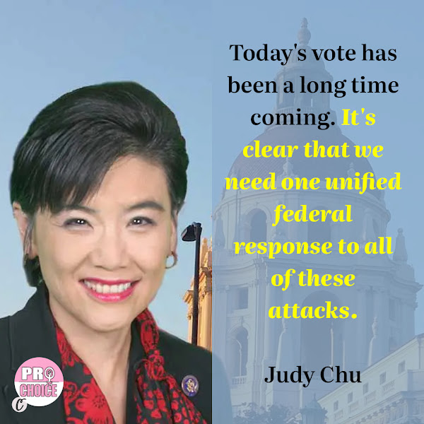 Today's vote has been a long time coming. It's clear that we need one unified federal response to all of these attacks. — Democratic Rep. Judy Chu