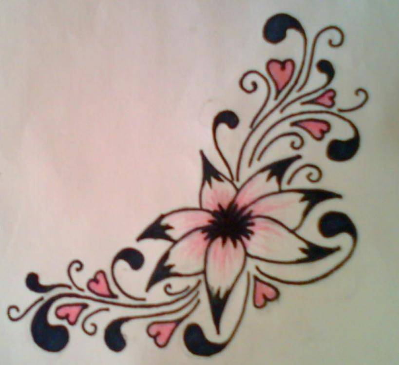 exotic flower tattoos jde5 (3)
