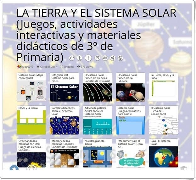 """""""19 Juegos, actividades y materiales sobre LA TIERRA Y EL SISTEMA SOLAR de 3º de Primaria"""""""