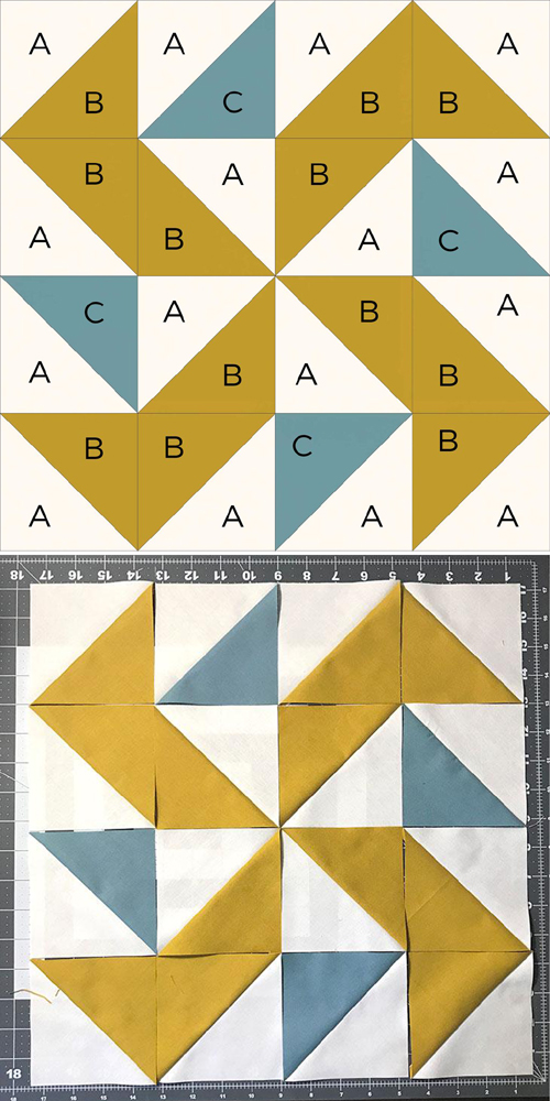 Yankee Puzzle Quilt Block - Free Pattern & Tutorial