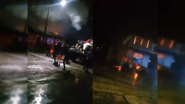 Por no ponerse al tiro con la cuota el Cártel de Los Correa queman casas e taquero y vendedora de Tortas en Michoacán