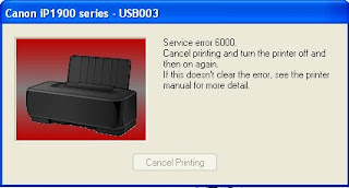 mengatasi error 6000 printer canon