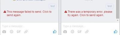 Facebook không thể gửi tin nhắn