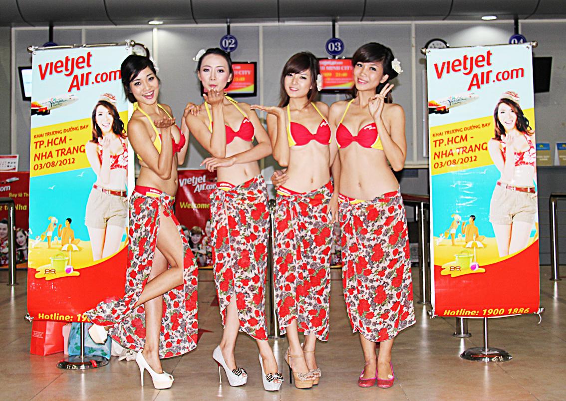 Vietjet Sexy and Hot Fligth Attendance Red Bikini