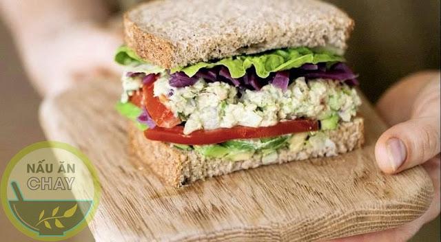 Sandwich đậu gà - bữa sang chay đầy dinh dưỡng