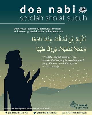 Doa terbaik rasulullah selepas solat subuh