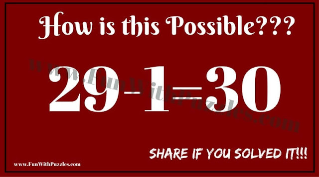 Mind Twisting Out of Box Maths Brain Teaser