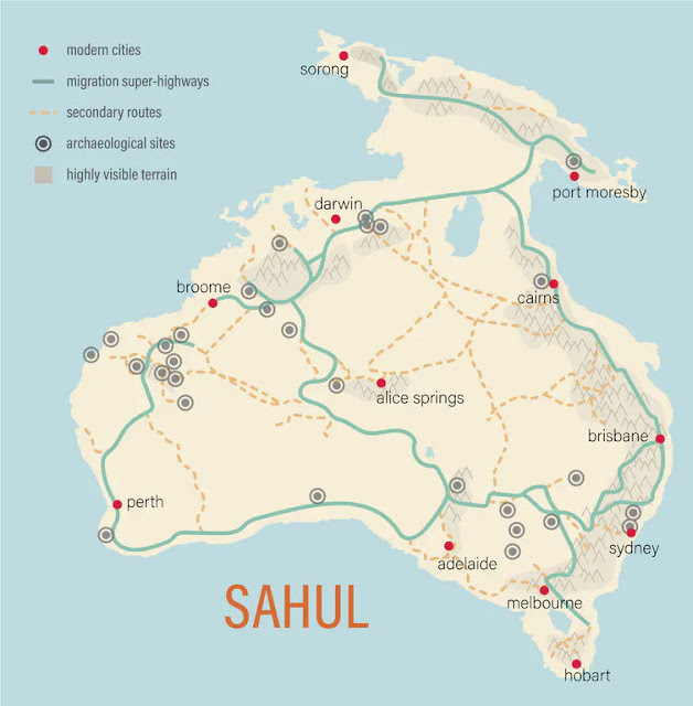 Mapping the 'superhighways' travelled by the first Australians