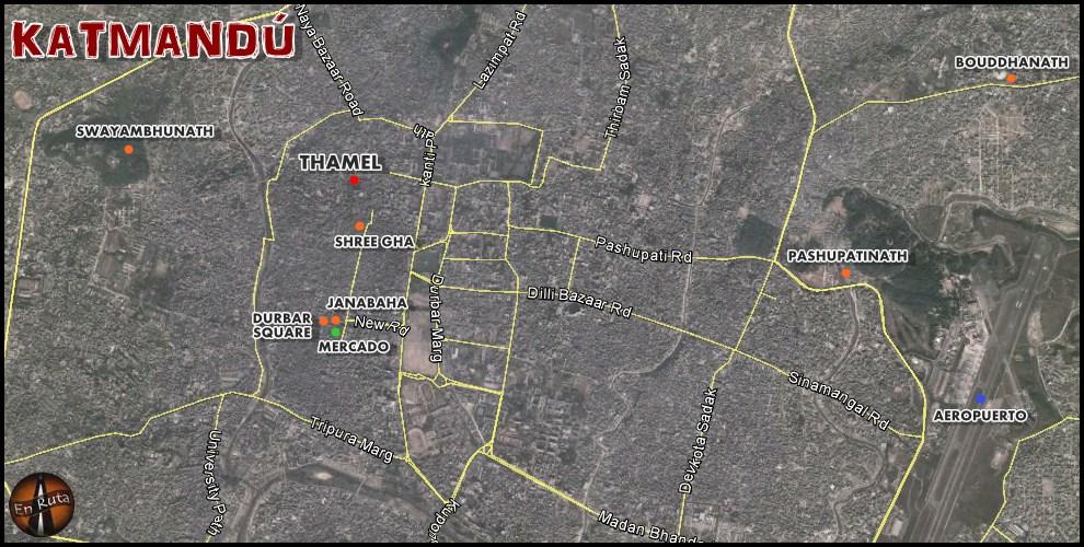 Katmandu-map