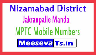 Jakranpalle Mandal MPTC Mobile Numbers List Nizamabad District in Telangana State