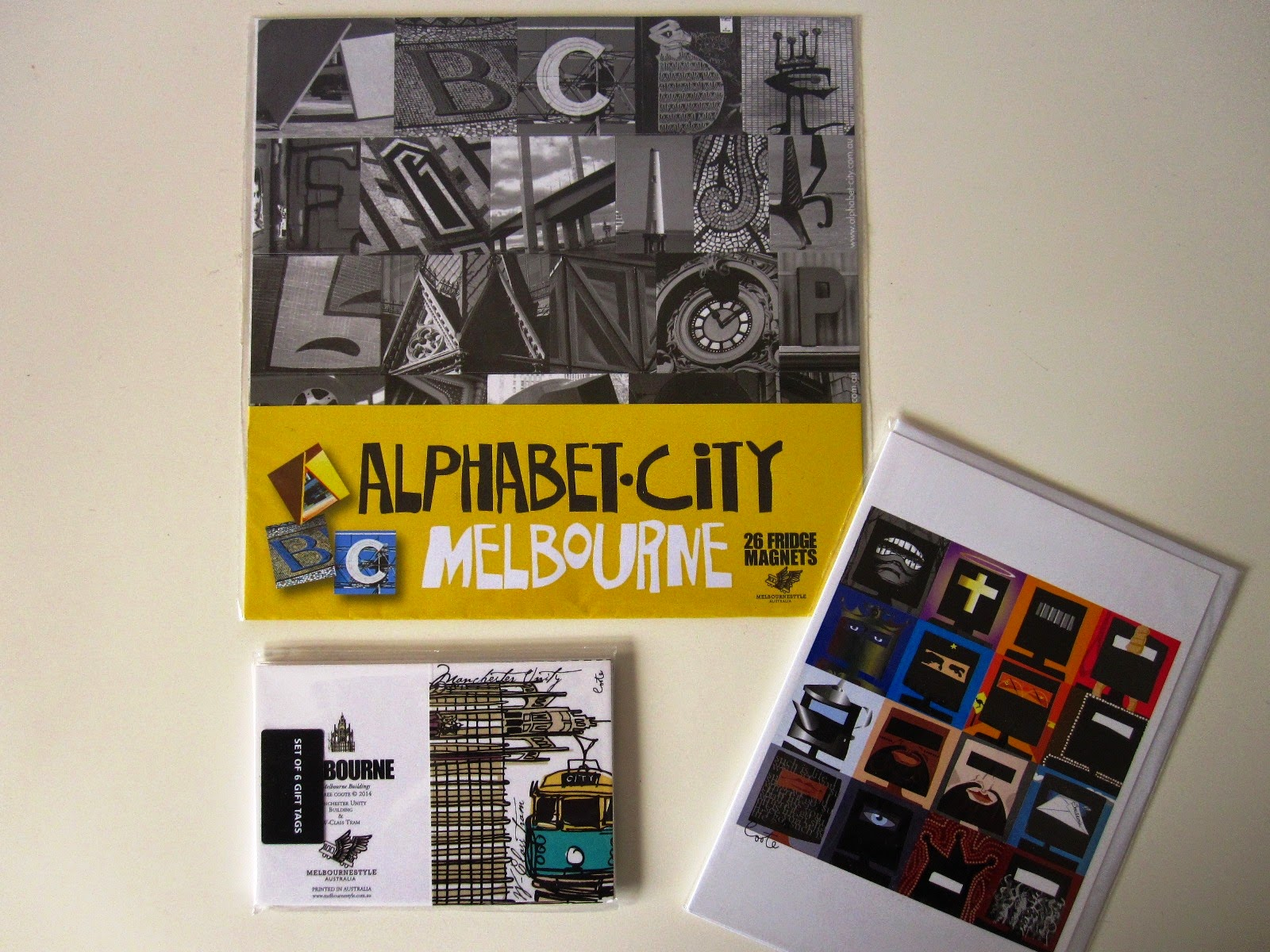 Cards and magnets from Melbourne Style.