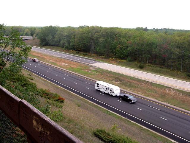 Elevated view of N-S highway in MI