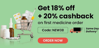 Medicines & Healthcare Products online - 18% Off+20% Casabck+Wallet Offer