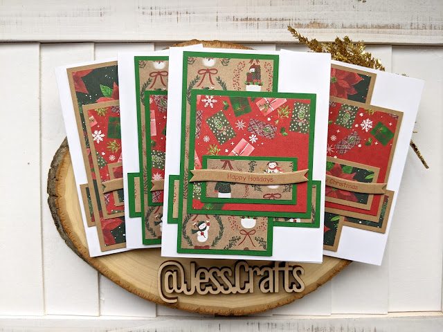 Christmas Card using Michael's Recollections Say Freeze for Jess Crafts Sketch 20
