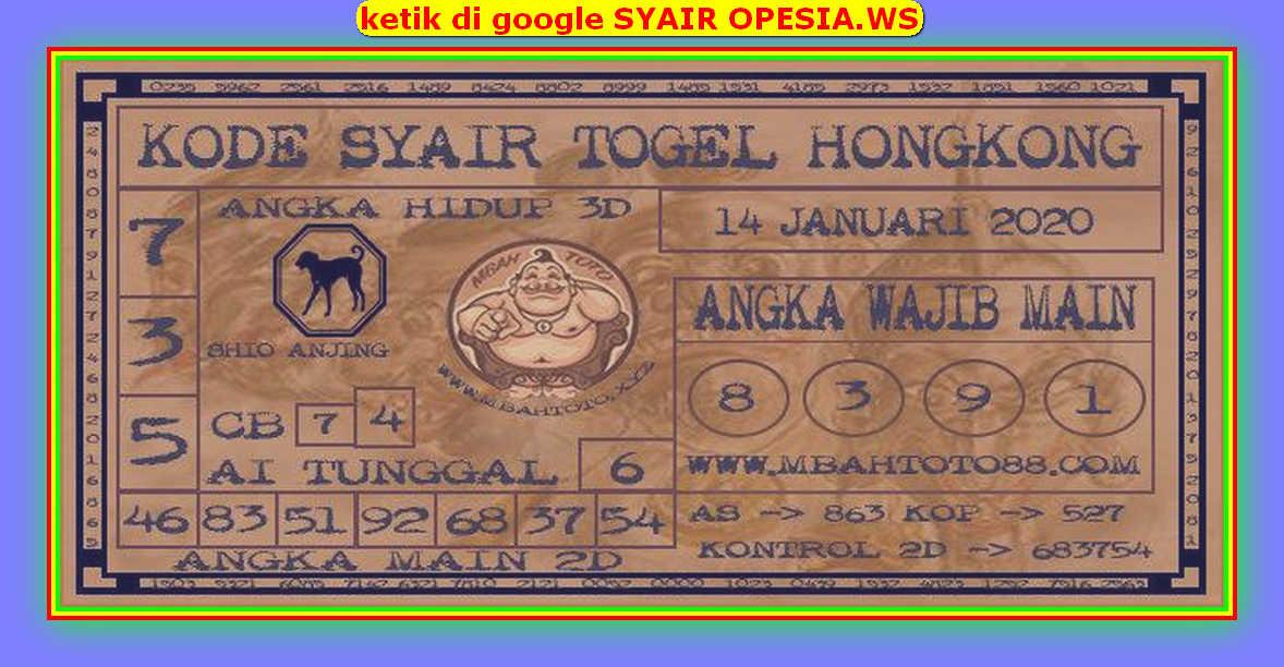 Kode syair Hongkong Selasa 14 Januari 2020 183