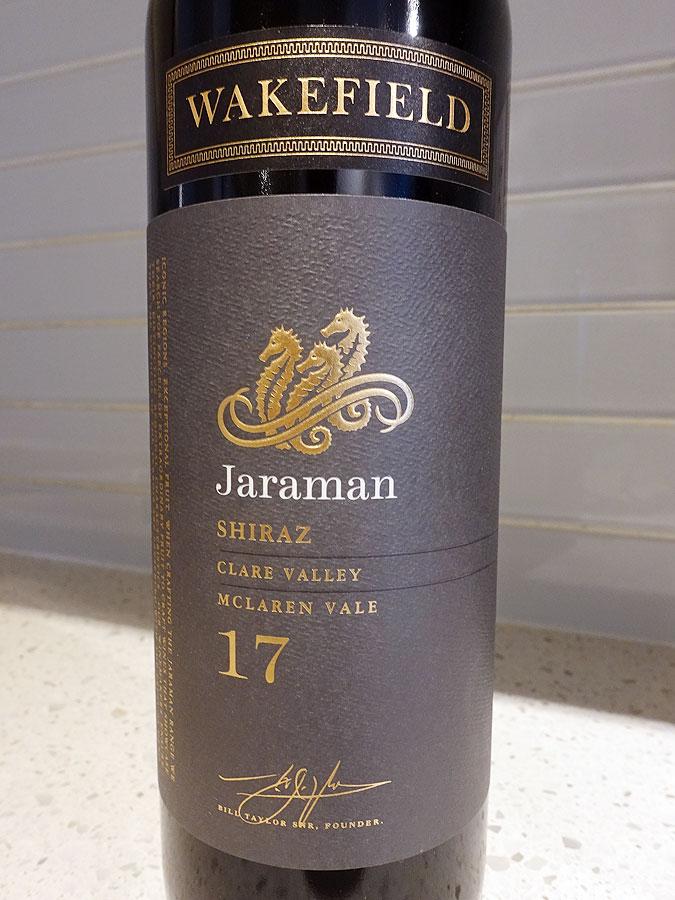 Wakefield Jaraman Shiraz 2017 (88 pts)