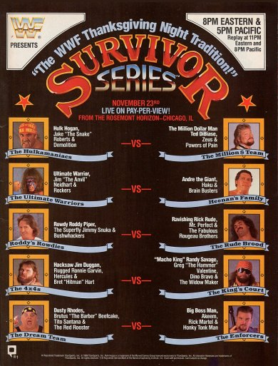 Ppv Review Wwf Survivor Series 1989 Retro Pro Wrestling Reviews