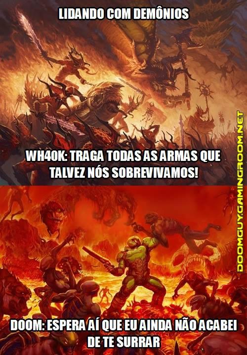 Lidando com demônios (Doom x WH40K)