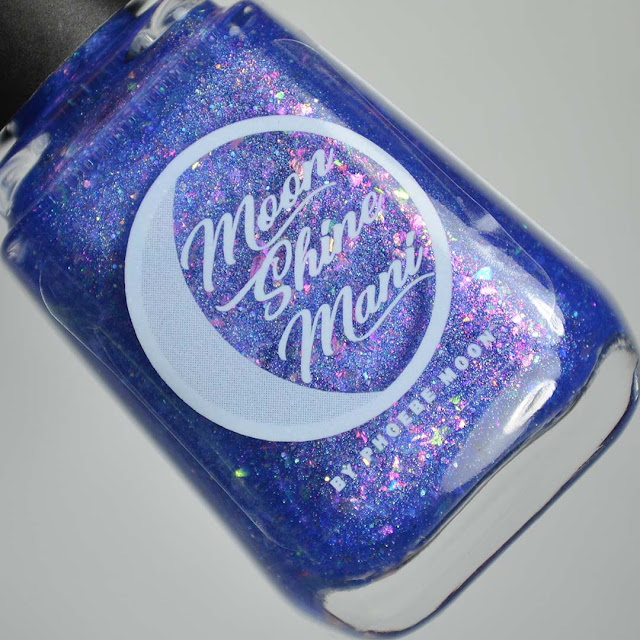 indigo flakie nail polish in a bottle