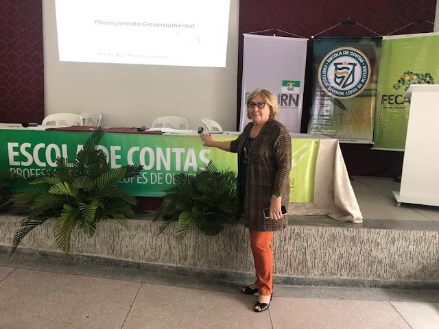Prefeita Maria Helena participa de capacitação promovida pelo tribunal de contas do RN