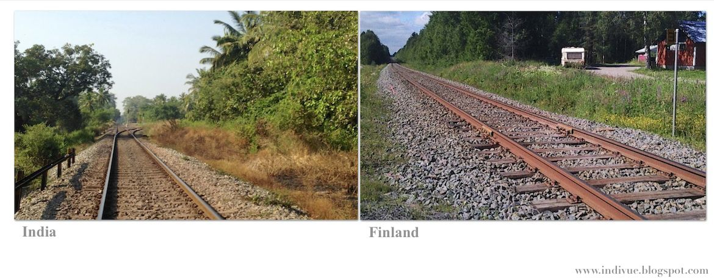 Intialainen rautatie ja suomalainen rautatie