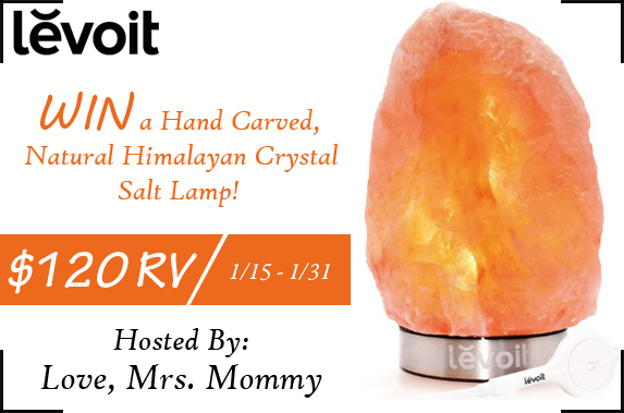 Levoit Hand Carved Natural Himalayan Crystal Salt Lamp Giveaway! $120 RV! Ends 1/31