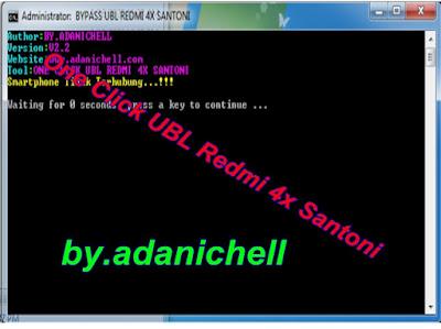 BYPASS UBL REDMI 4X SANTONI TANPA SMS