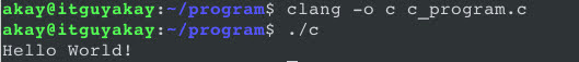 clang options and flags