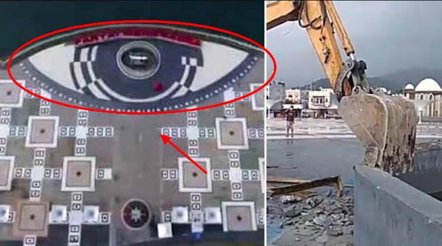 Simbol Mata Satu Dajjal Dirobohkan Di Pantai Manakkara, Waspada Pasukan Satanisme Mulai Banyak Muncul
